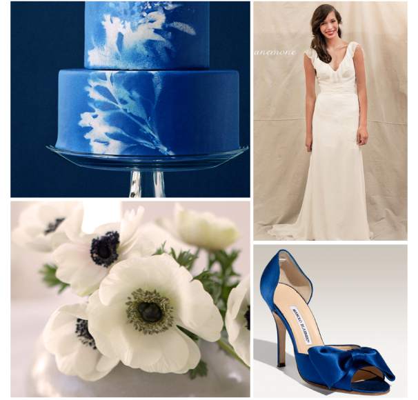 This color scheme of royal blue and cream is simple but striking