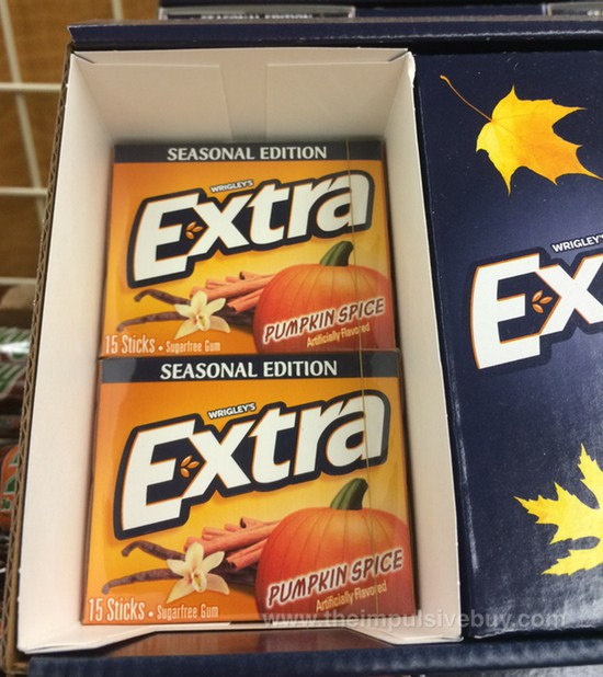 http://www.theimpulsivebuy.com/wordpress/2014/08/25/spotted-on-shelves-wrigleys-extra-seasonal-edition-pumpkin-spice-gum/