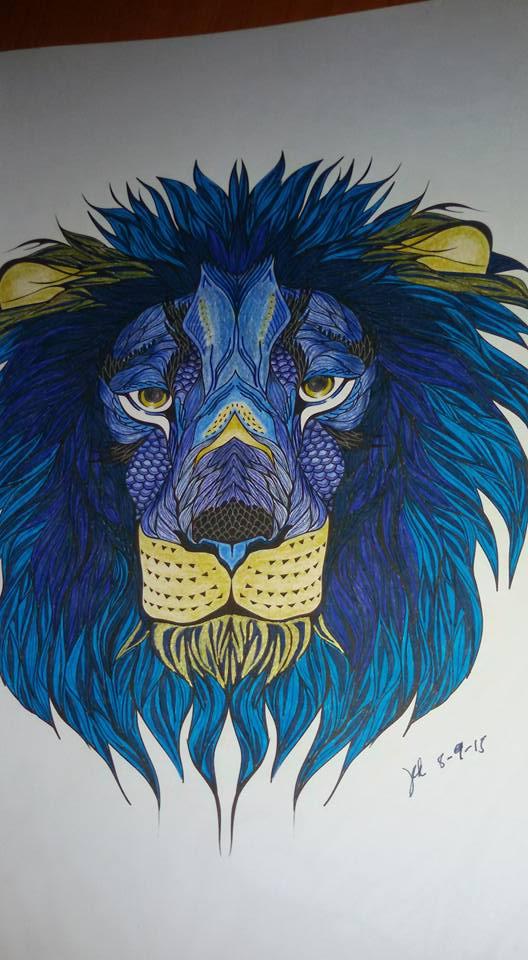 Blue Lion Coloring Book