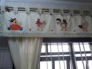 bando e cortina para cozinha com patch aplique, artesanato em tecido, patch aplique