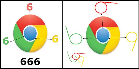 El logo de Google Chrome es similar al 666 Logogcb
