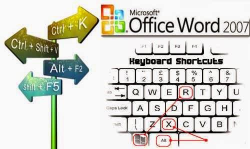 ms office 2007 keyboard shortcuts
