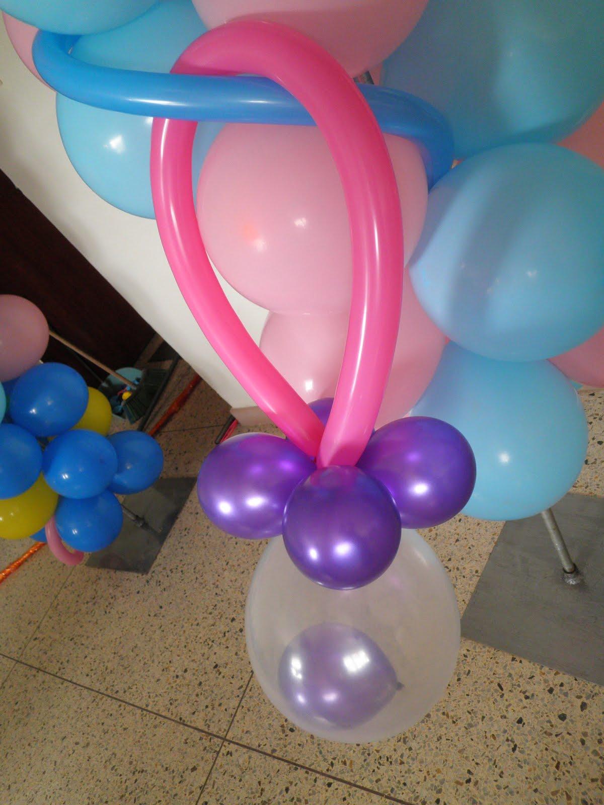 Chupones de globo imagui - Como hacer decoracion con globos ...