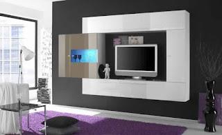 Meuble TV suspendu angle