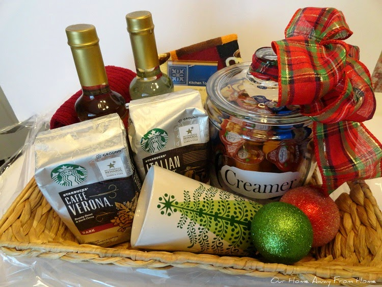 Our home away from home a holiday gift basket idea i bought a nice size basket at ross solutioingenieria Images