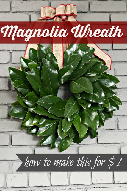 How to make a magnolia wreath