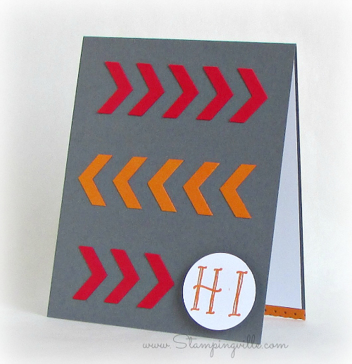 Clean and simple chevron Thinking of You card