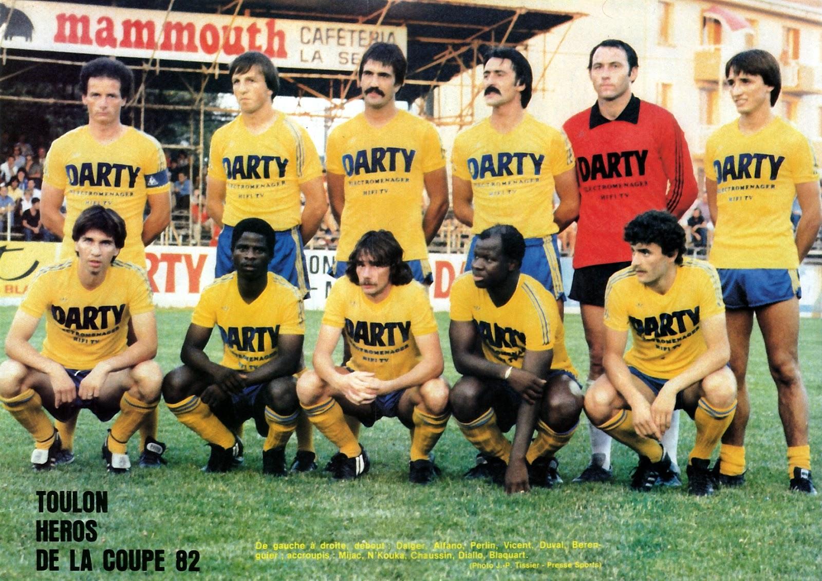Sporting Club Toulon 1981 82 By Panini The Vintage Football Club