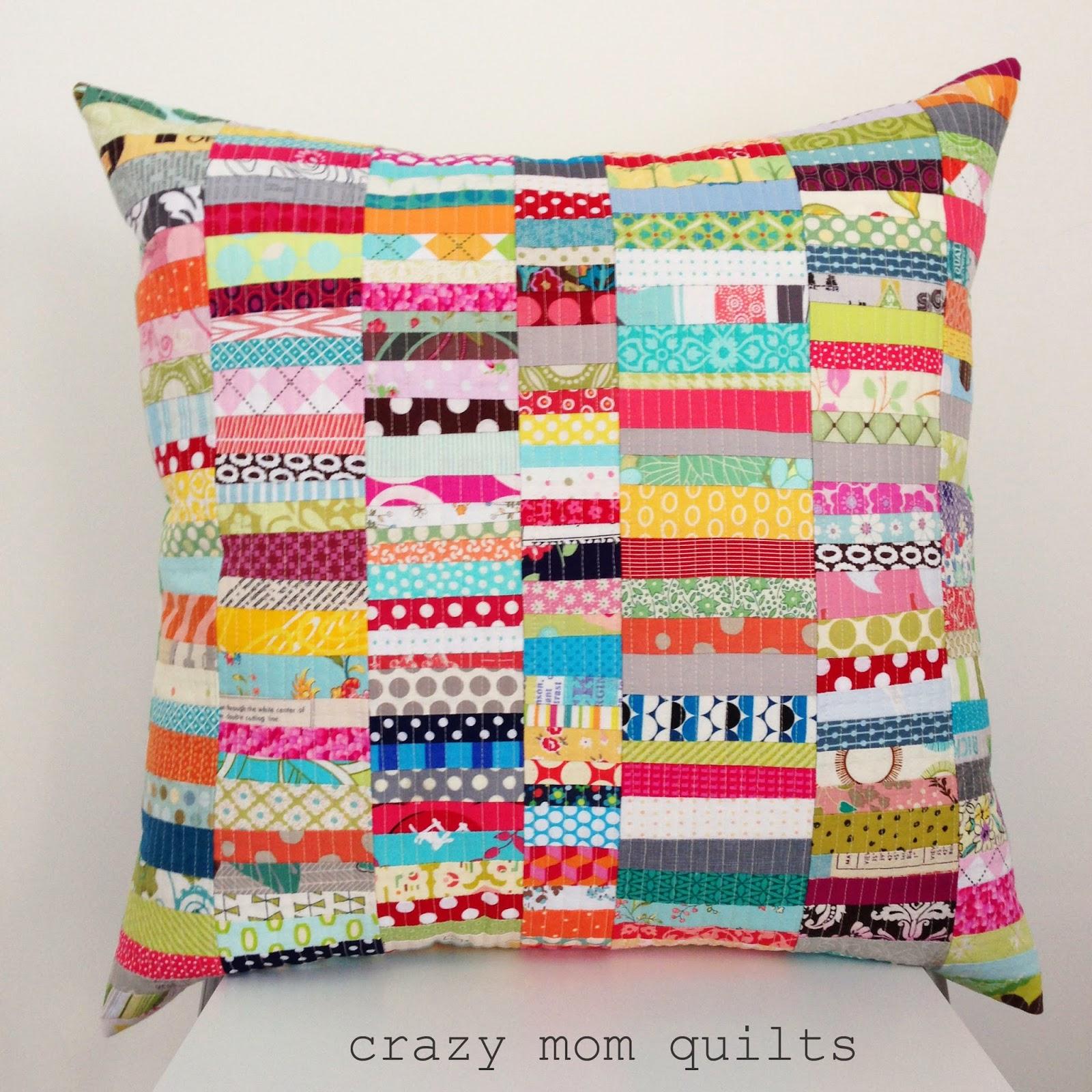 scrap happy pillow crazy mom quilts Bloglovin