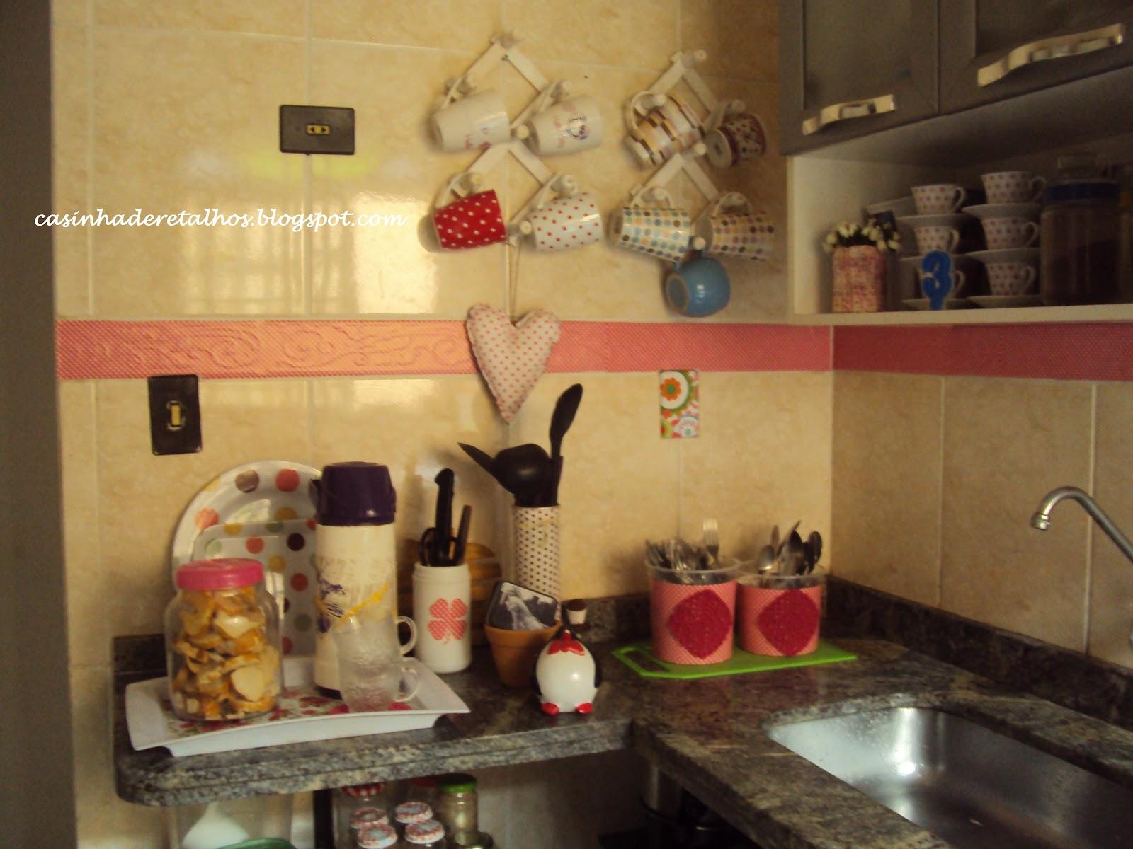 Casinha de Retalhos Minha cozinha de cara nova ♥ trabalhada no