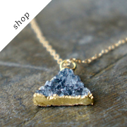 Druzy Triangle Necklace by Le Faire on Etsy