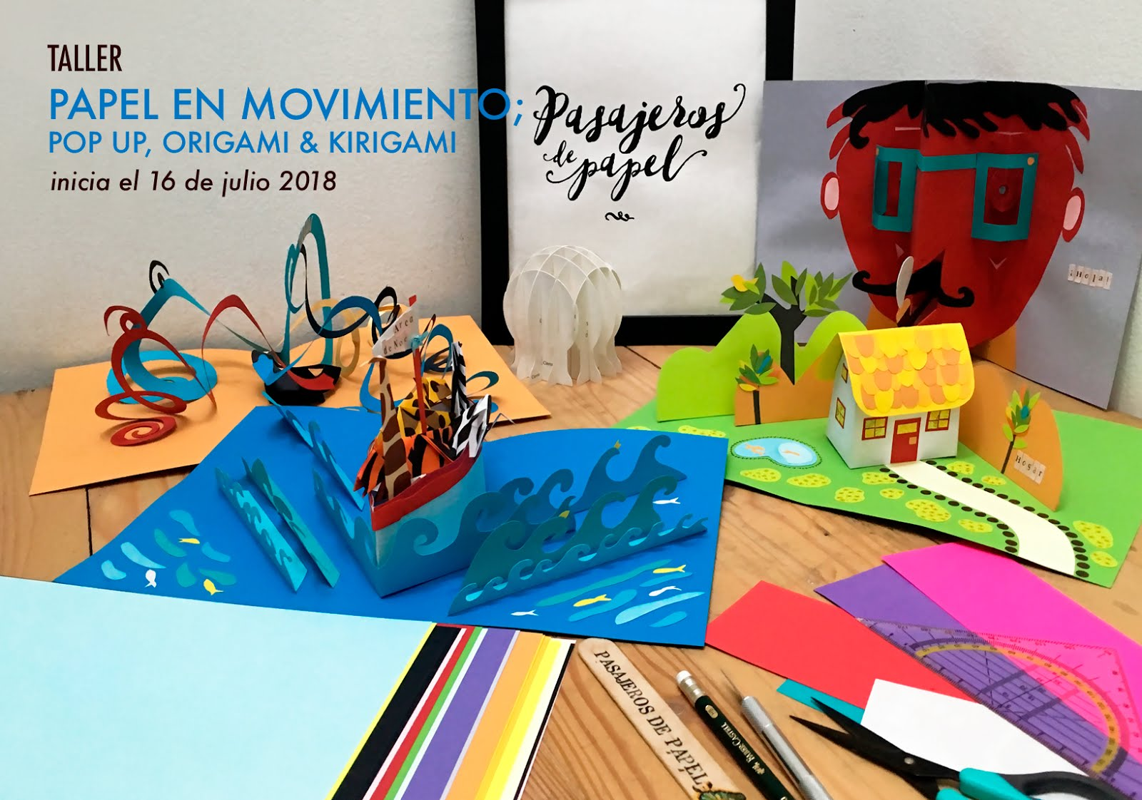 PAPEL EN MOVIMIENTO: POP UP, Origami y Kirigami