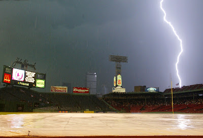 Tormenta eléctrica en el estadio