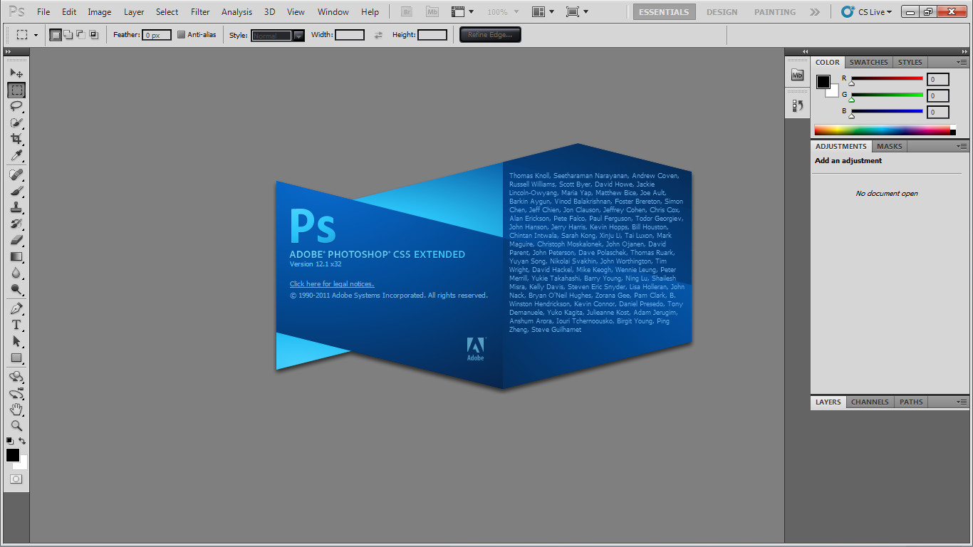 Adobe Photoshop CS5 let you use it for 30 days then you need to buy