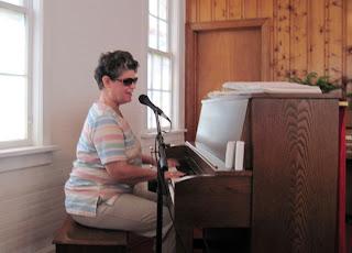 Laurel presenting at Rehobeth church