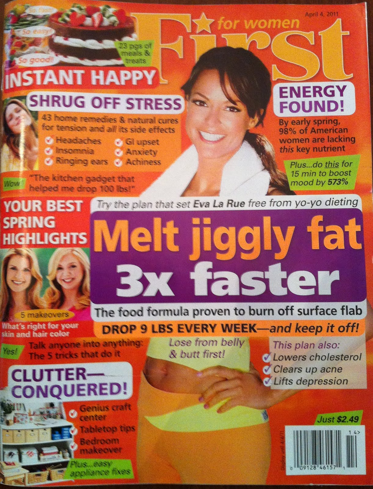 For Women FIRST Magazine, Jiggly-Fat Busting Low Carb Diet Claims