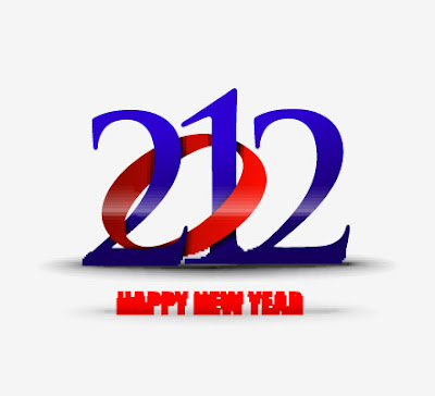 New year 2012 in white background vector