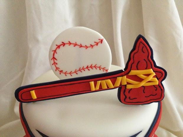 Atlanta Braves Baseball Birthday Cake