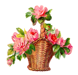 digital flower rose basket image