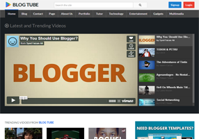 BlogTube Professional Video Blogger Template