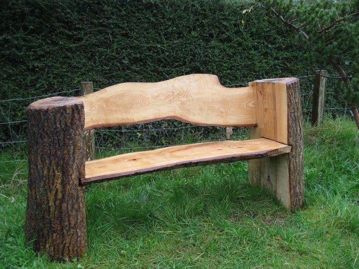 Muebles construidos con troncos de madera | Construccion y ...