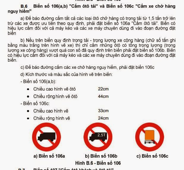 biển cấm xe tải chở hàng