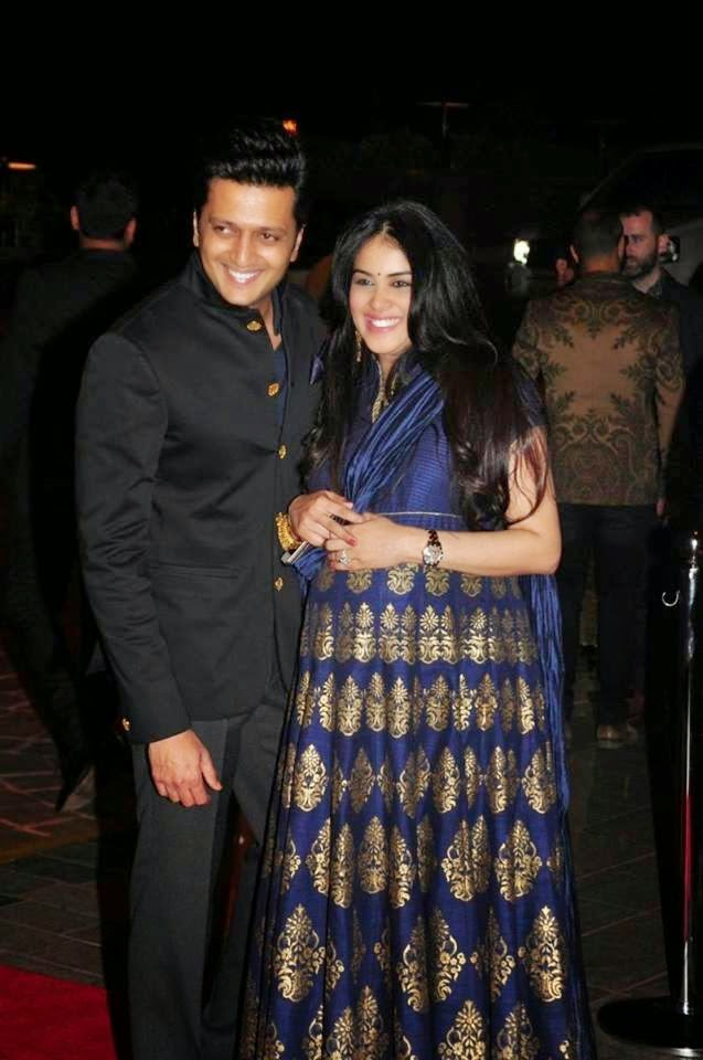 Genilia And Rithesh Deshmuk Latest Stills At Salman Sister Reception