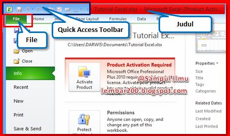 Tutorial Dasar Cara Belajar  Microsoft Excel 2010