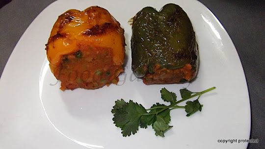 Stuffed capsicum, Bharwan Shimla Mirch