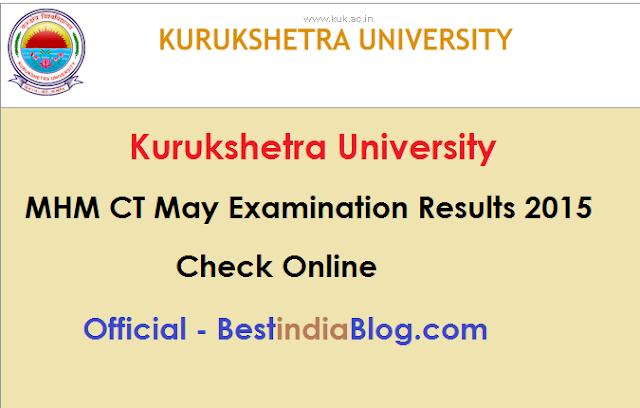 kurukshetra University MHM CT Results