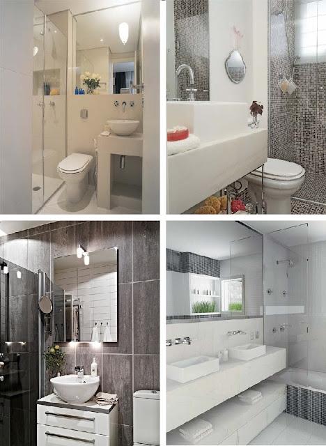 ArqMarjorieKaroline arquitetura e construção Banheiros para todos os gostos -> Decoracao De Banheiro Com Material Reciclavel