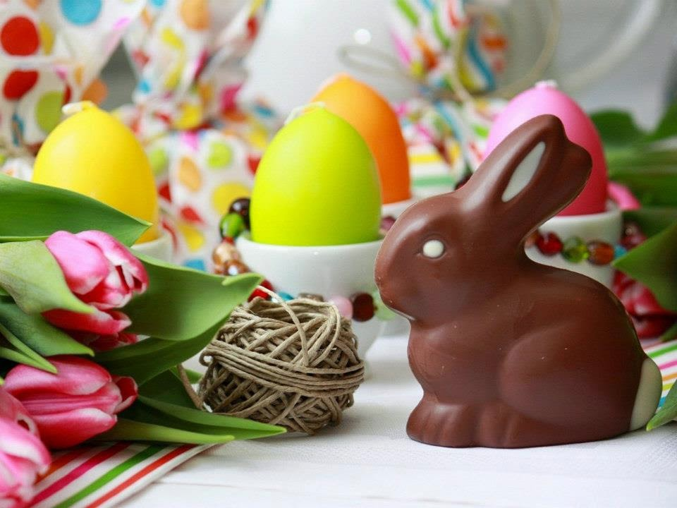 The Chocolate eggs appear