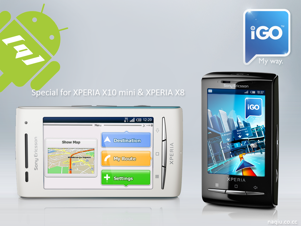 igo my way xperia x10 mini xperia x8 apk android 47 8mb