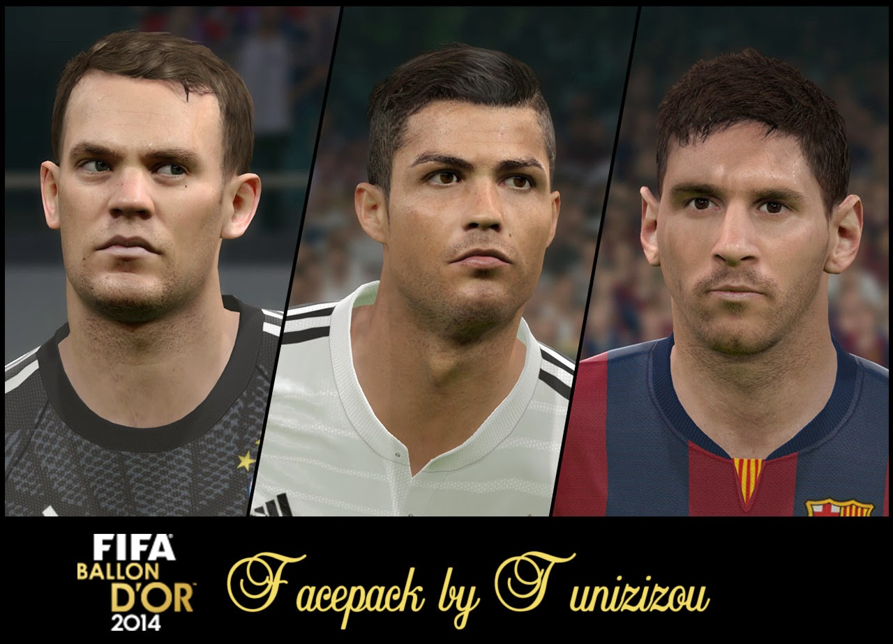 PES 2015 Ballon d'or Facepack by Tunizizou