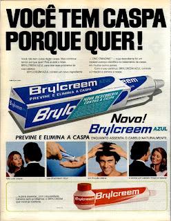 propaganda creme para os cabelos Brylcreem - 1973