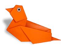 Membuat Bebek dan Ayam dari Kertas Origami