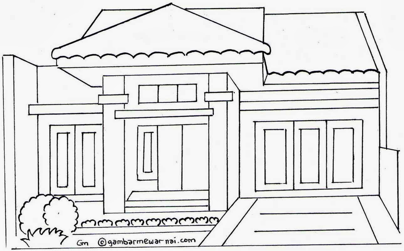 Berikut adalah gambar gambar mewarnai rumah untuk anak anak tokoh