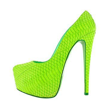 daffodile high heels louboutin 39s heels neon neon green pumps heels shoes