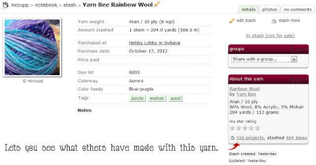 Ravelry's Stash Screen - Overcoming Remorse After Yarn Shopping