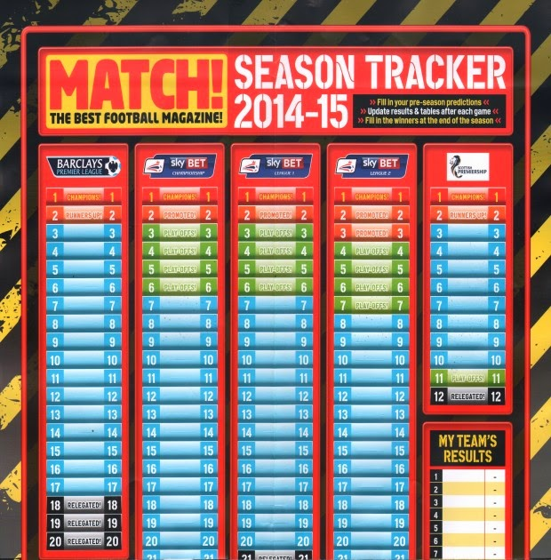 match magazine season tracker