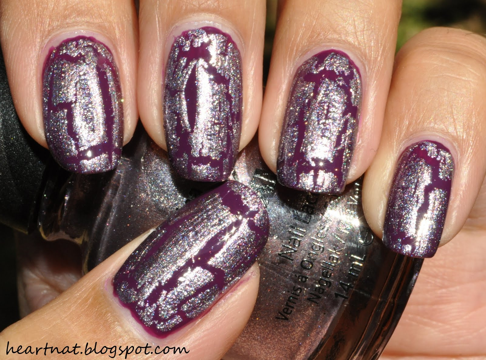 Фото ногтей с эффектом кракелюра