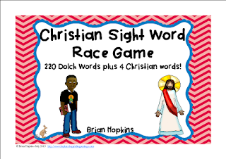 https://www.teacherspayteachers.com/Product/Christian-Sight-Word-Race-1942698