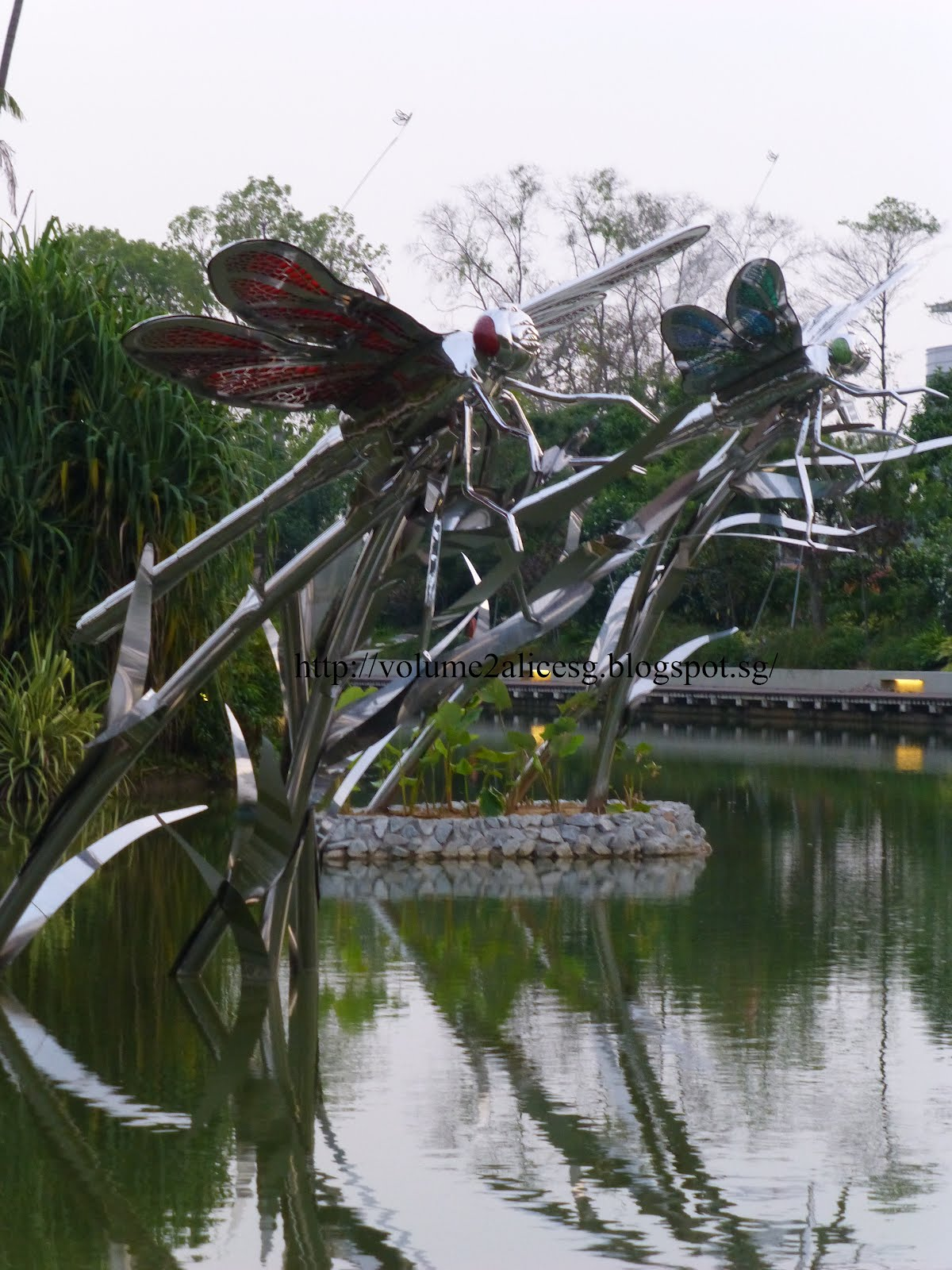 in gardens by the bay you dont have to pay any admission fee to enter the dragonfly lake be sure to catch dragonflies resting around the lakes