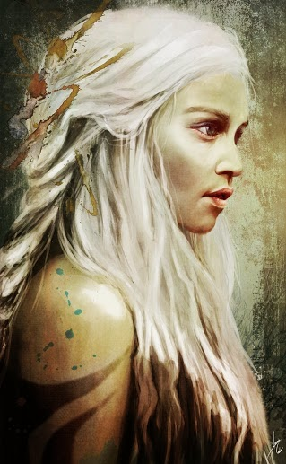 Daenerys retrato - Juego de Tronos en los siete reinos