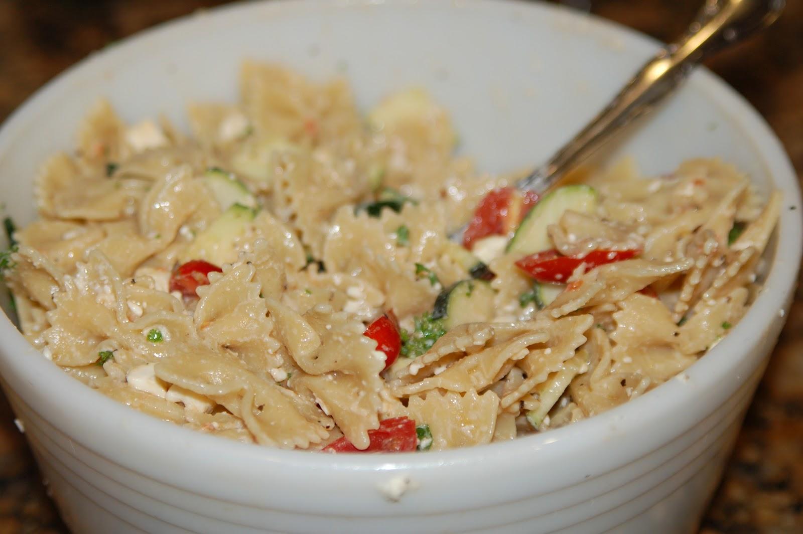Samma Spot: Pasta Salad with Zucchini, Tomatoes & Feta