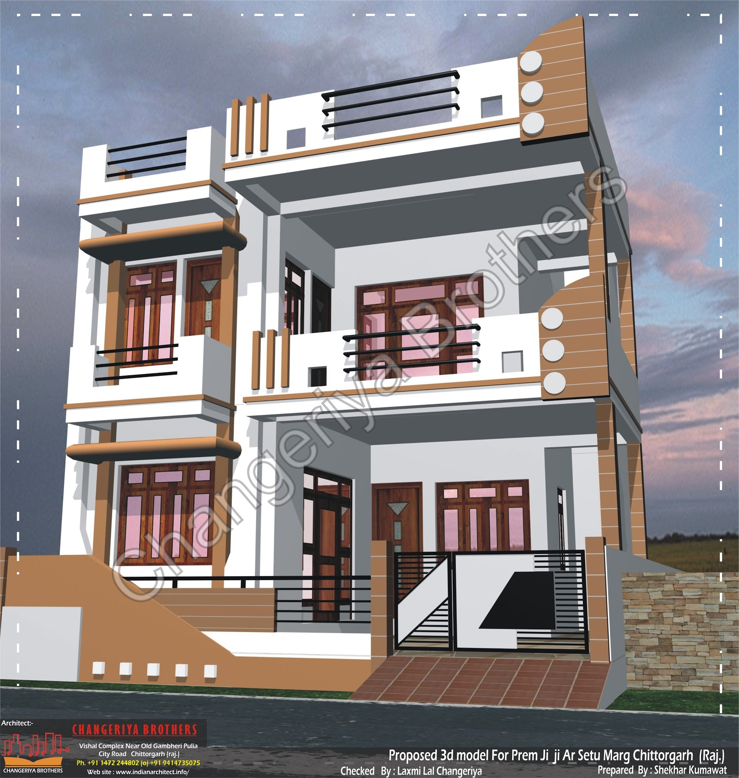 Mr prem ji at chittorgarh 30x60 3d model and project work Naksha for house construction