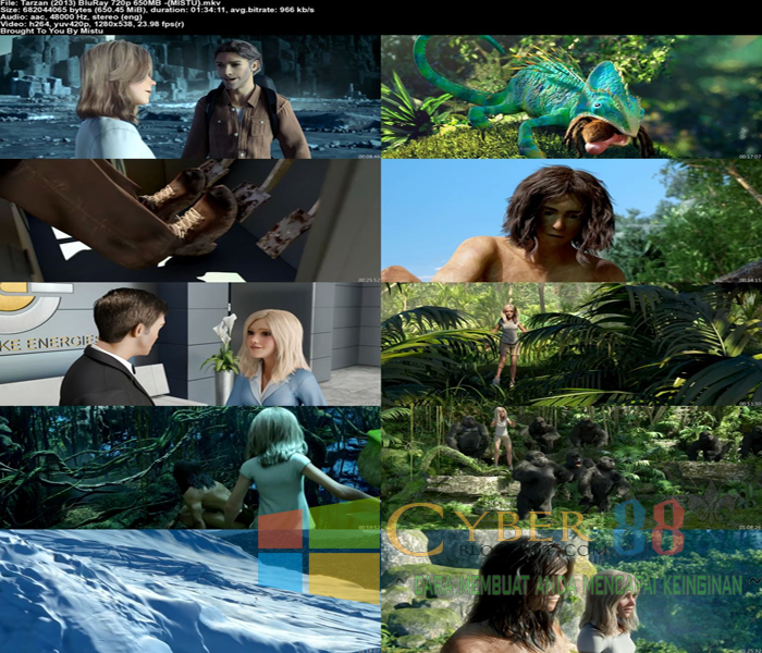 Download Tarzan (2013) BluRay 720p Full Movie + Sub Indonesia