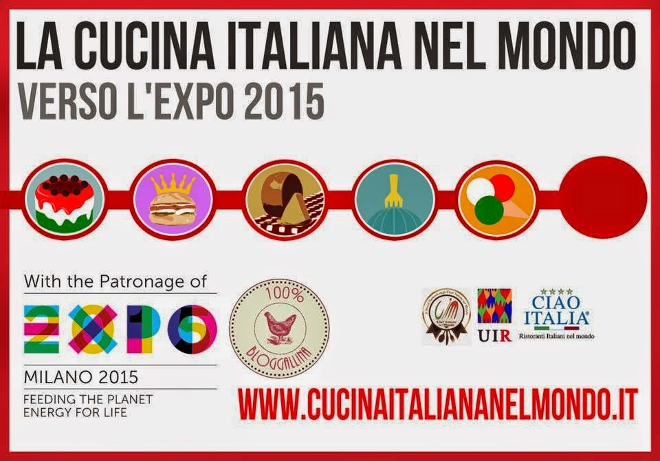 """Partecipo, assieme alle altre Bloggalline, all'iniziativa """"La cucina italiana nel mondo"""""""
