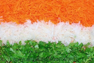 Anjali's Kitchen- Tricolor Salad