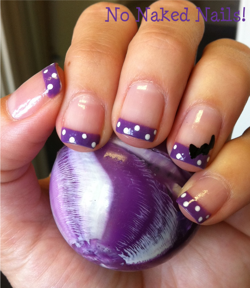 Acrylic Nail Designs Purple Tips Best Purple Nails Ideas On